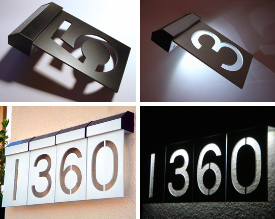 Solar LED Numbers Address