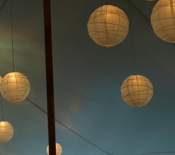 How to create enchanting wedding tent lighting lights and lights - Paper light fixtures ...