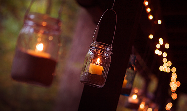 String Lights Wedding Diy : Unique Weekend DIY Wedding Lighting Ideas and Projects Lights and Lights