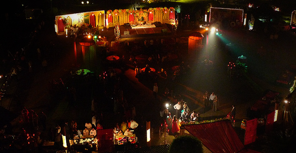 indian wedding setting