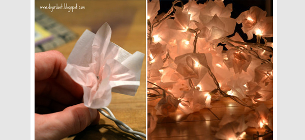 paper flower string lights