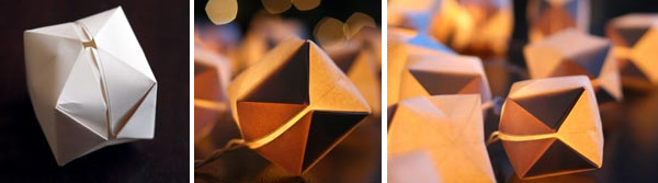 string lights origami