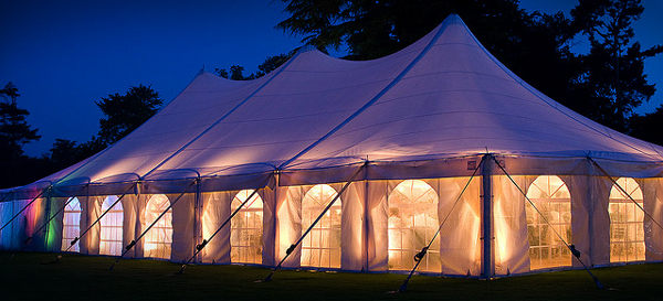 wedding tent lighting