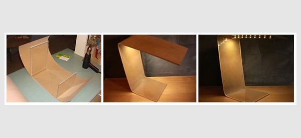 DIY Birch Veneer Lamp