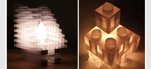 Lego lamps