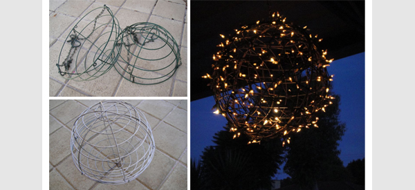fairy light outdoor pendant light