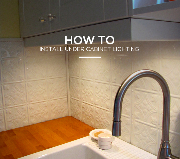 Can You Install A Vanity Light Without A Junction Box : Kitchen Guide: How To Install Under Cabinet Lighting In 6 Simple Steps Lights and Lights