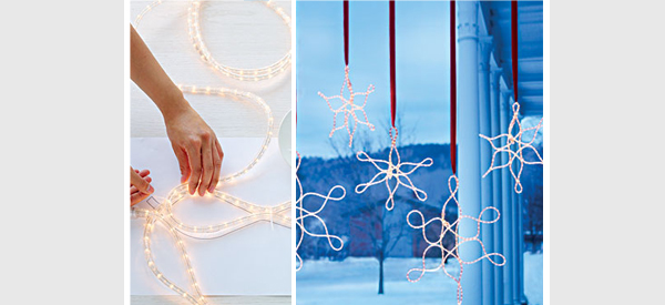 DIY snow flake lights