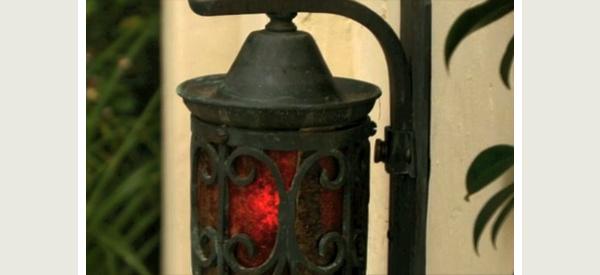 A wall lantern