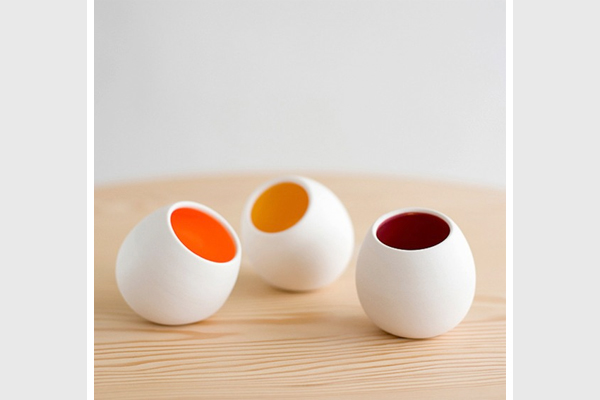 Colored votive holders