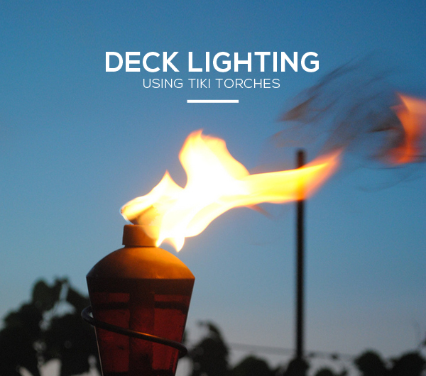 Deck Lighting Tiki Torches