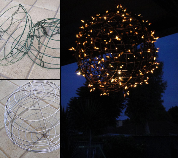 DIY Outdoor Pendant Lighting Using String Lights and