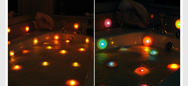 Home bath spa lights