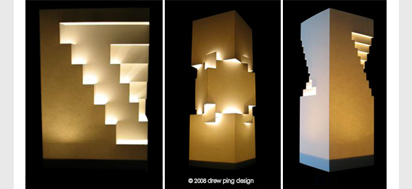 Fold and cut paper lamp