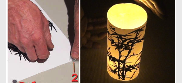 Instructions Here A DIY Paper Lamp