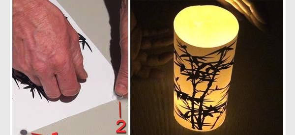 A DIY paper lamp
