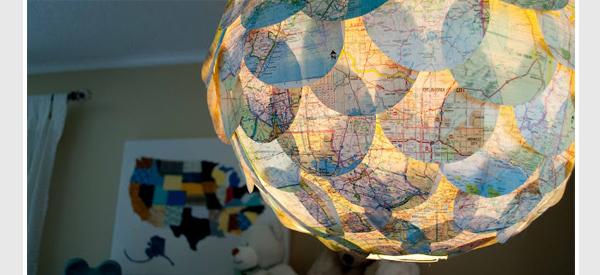 Creative Vintage Map Paper Lantern