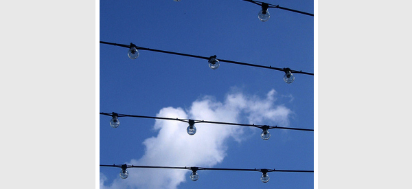 string light ceiling