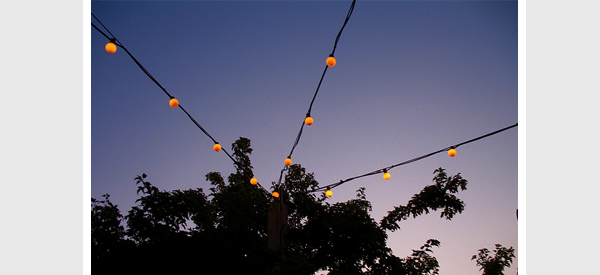string lights pole