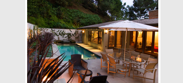 swimming pool and wall lights