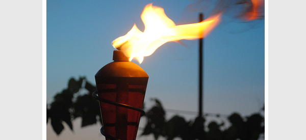 Tiki Torches Can Be Used To Light Up A Patio