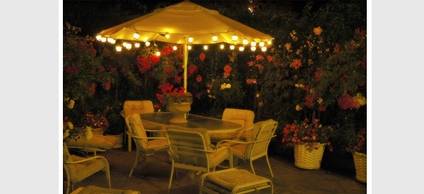 Awesome Patio Umbrella Lighting