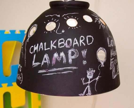 Chalkboard Light DIY