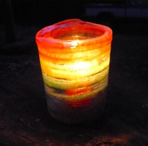Colored Ice Lantern DIY