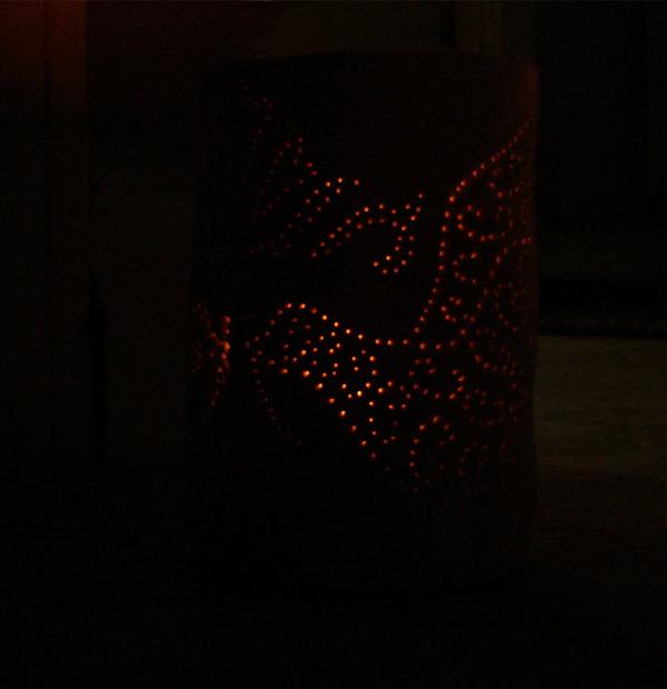 DIY Clay Lantern