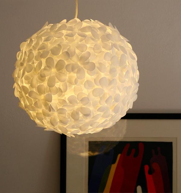 paper punch paper lantern flower light lights and lights. Black Bedroom Furniture Sets. Home Design Ideas