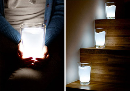 Glass Milk Lamp