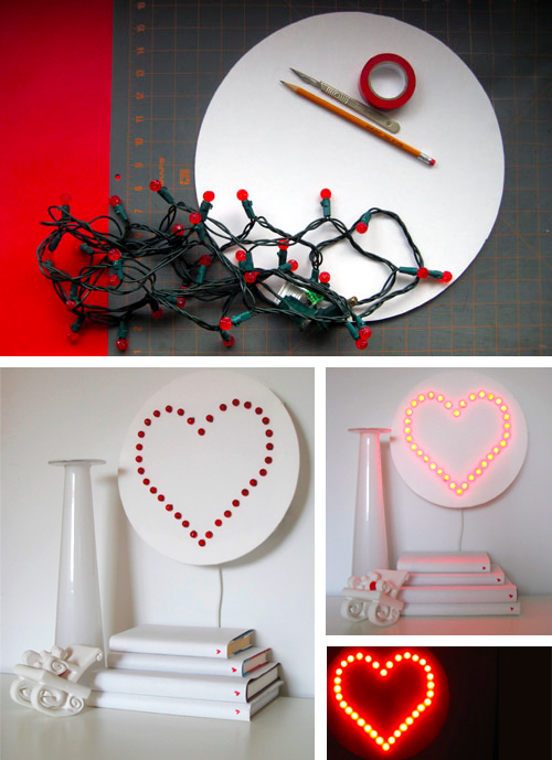 Heart Wall Lamp DIY