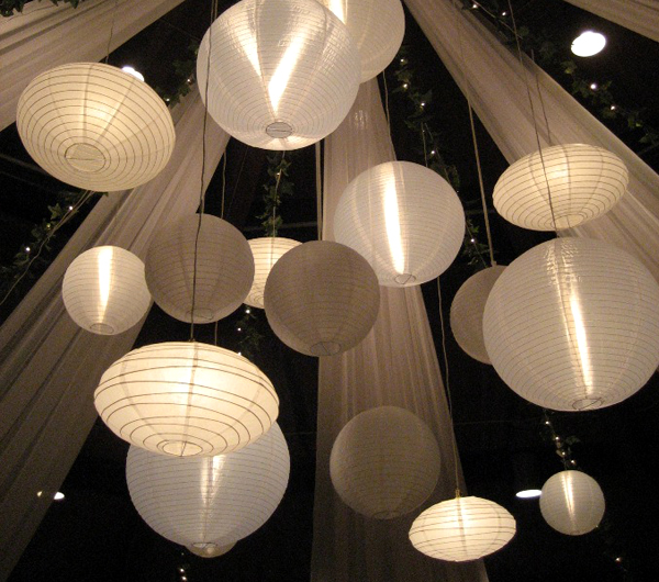 Paper Lantern Chandelier