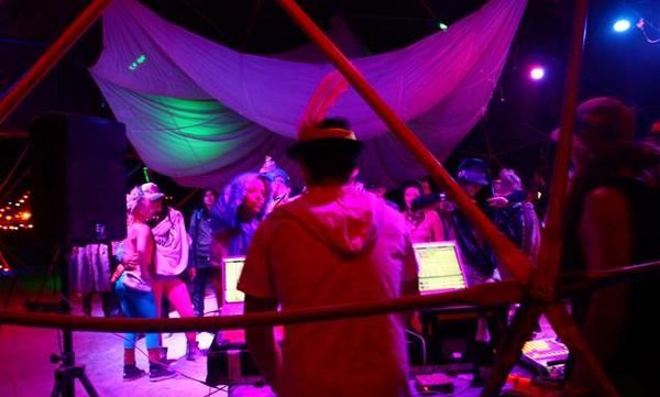 Saiko5 Dance Light at Burning Man