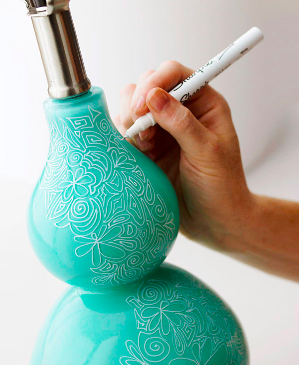 Sharpie Lamp DIY