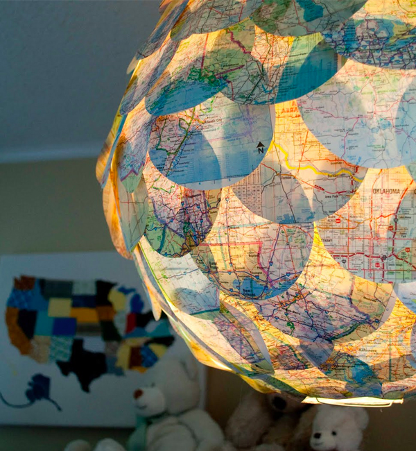 Vintage Map Lamp DIY