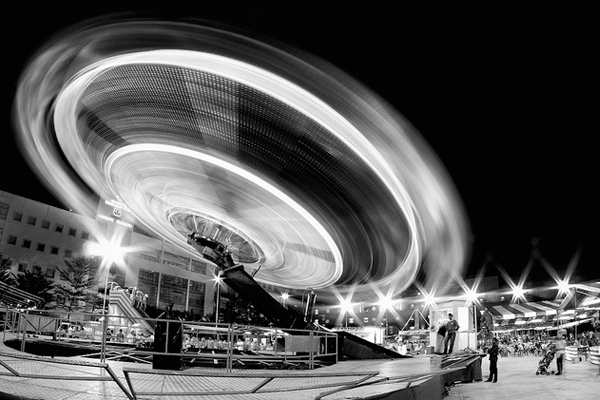 light painting carousel