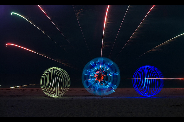 light painting roman candles