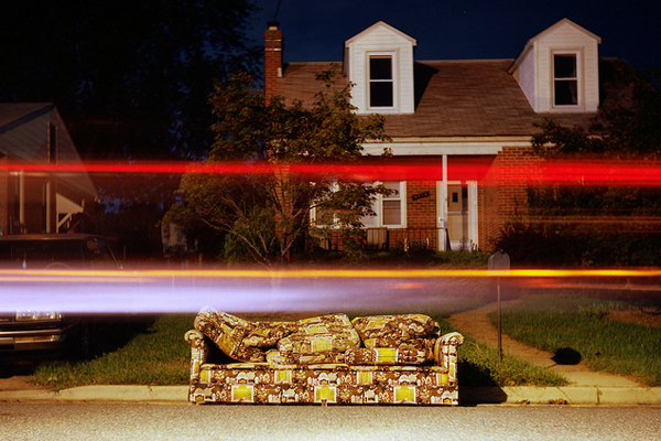 light painting street