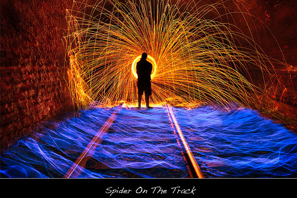 light painting train tracks