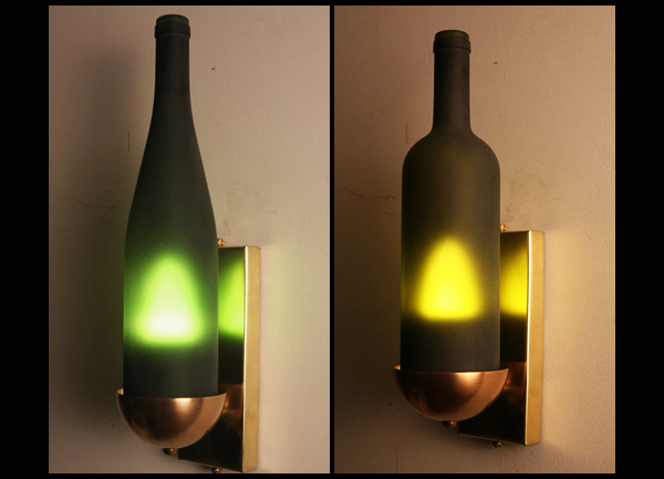 wine bottle wall sconces