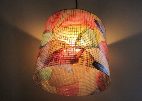 Colorful Coffee Filter Lamp