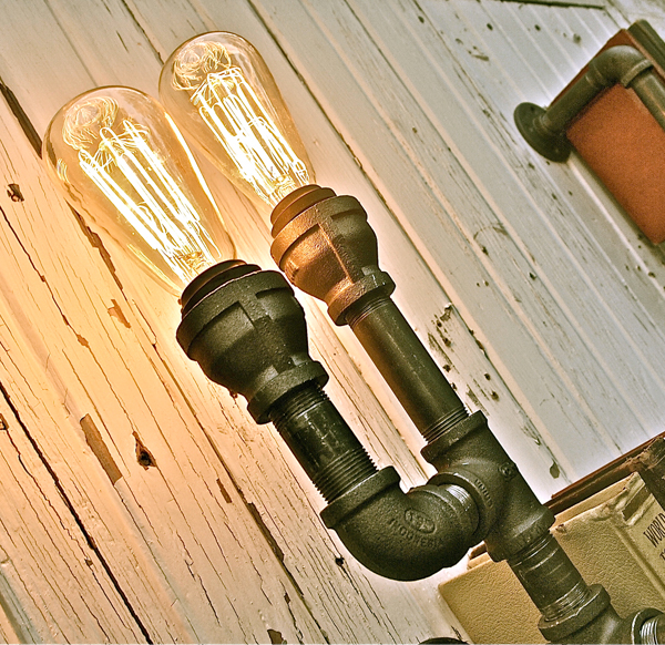 Industrial Shelving With Lights