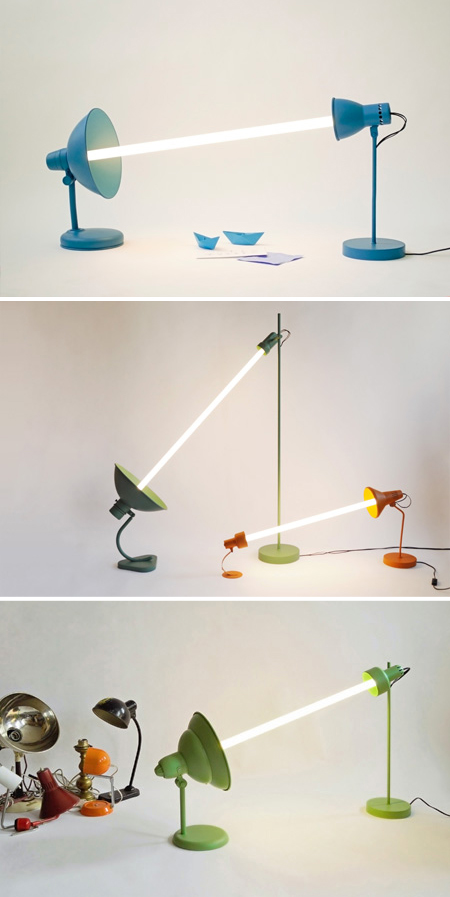 Upcycled Florescent Lamps