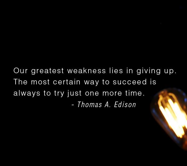 thomas edison failure quote