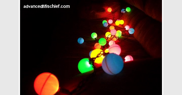 DIY ping pong lights
