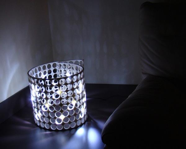 DIY recycled felt light