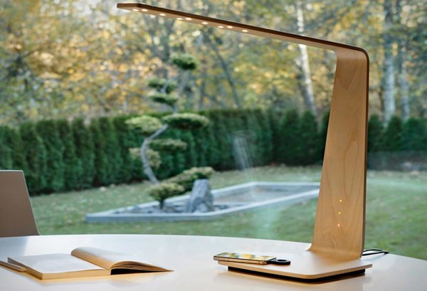 Tunto Wooden Lamp Wireless Charging Station