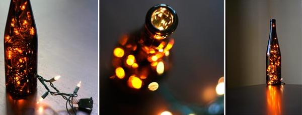 DIY Wine Bottle Lamp