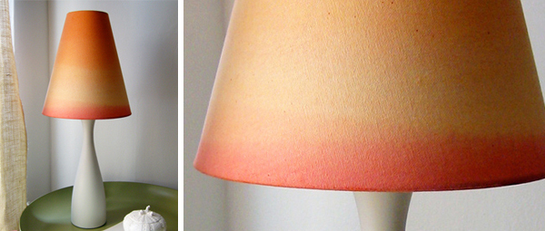 dip dye lamp shade DIY